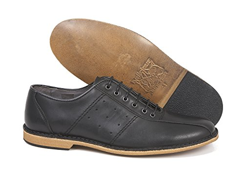 Delicious Junction Watts Leather Bowling Shoe by Black