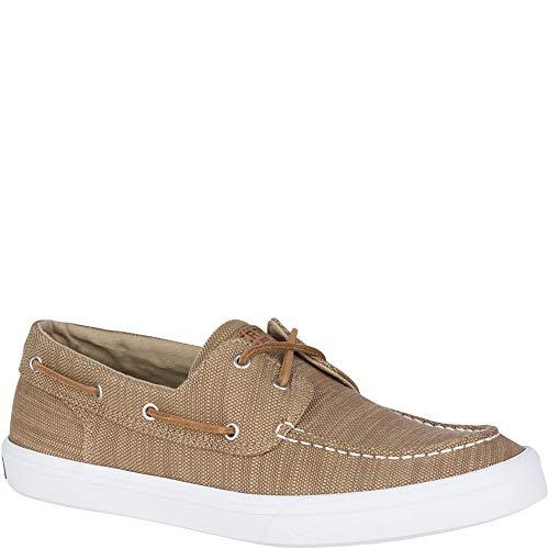 (SPERRY Men's Bahama II Baja Sneaker, Khaki, 8.5)