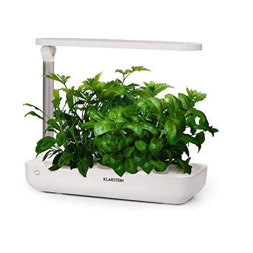 Klarstein-GrowIt-Flex-Smart-Indoor-Garden-15-Piece-Set-Grow-Up-to-9-Plants-in-25-to-40-Days-68-to-82--F-18-Watts-LED-Lighting-2-Liter-Water-Tank-Daylight-Simulation-System-Antique-White