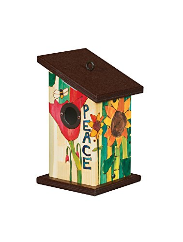 Studio M BH9022 Wren Birdhouse, Peace Everywhere