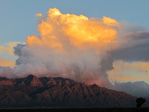 Home Comforts Canvas Print New Mexico Sky Sandias Landscape Mountains Clouds Stretched Canvas 10 x 14