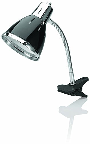 V-LIGHT CFL Clip Lamp with Adjustable Metal Gooseneck Arm (VS90414B), 4.5