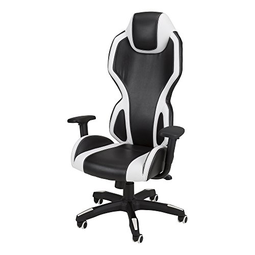 A.I. – High-Back Gaming Chair by SkyLab Performance Seating F.C, White/Black For Sale
