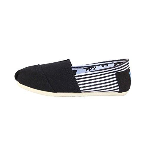Unita Uomo Flats Donna Dooxii Casuale Tinta Moda Slip Nero1 Basse Unisex Espadrillas Scarpe on Scarpe Loafers 8w6wnrF5q