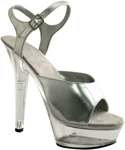 Silver Platform Costume Shoes (Size:Large 9-10) - Plats Costume Shoes