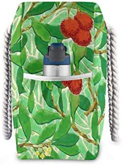MORITAビーチバッグ レディース バック プールバッグ スイムバッグ ビーチ 海水浴 大きめ 軽い 軽量 薄緑 ウィリアム・モリス 木パターン