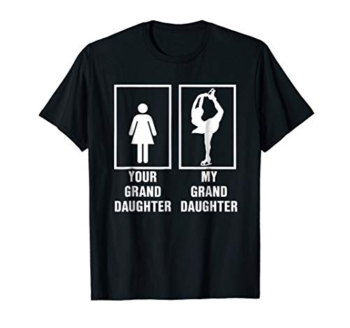My Granddaughter is a Figure Skater Ice Skating T Shirt ()