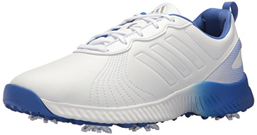 adidas Women's W Response Bounce Golf Shoe, FTWR White/hi-res Blue, 7.5 Medium US