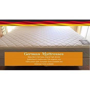 Amazon Com German Mattress Soft To Firm High Density