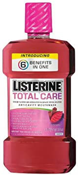 Listerine Total Care Anticavity Mouthwash Cinnamint, 1-Count Pack of 3