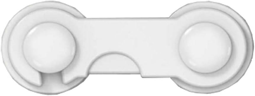 NOLOGO Kyt-mi Protección Seguridad 1PC de Seguro for Niños bebé la Cerradura del cajón del niño for gabinete Ventana del refrigerador del Armario ropero (Color : Blanco)