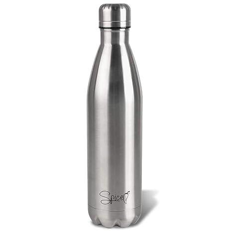 SPICE Botella térmica de Acero Inoxidable con Aislamiento al vacío con Doble Pared, Agua y Bebida, 750 ml, sin BPA, para Adultos, niños, Estudiantes, ...
