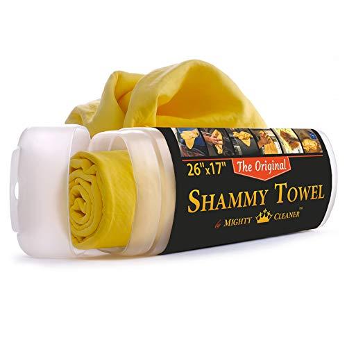 """Shammy Towel for Car - 26"""" x 17"""" Chamois Cloth for Car - Original Car Drying Towel"""