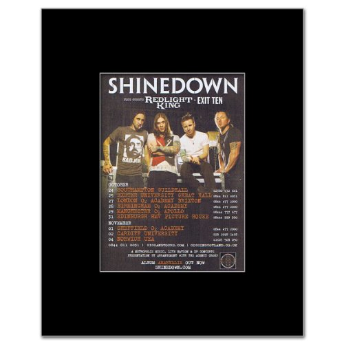 SHINEDOWN - UK Tour October 2012 Matted Mini Poster - 13.5x10cm