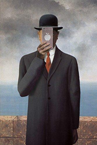 Son of Man New Apple Rene Magritte Parody Art Humor Poster ()
