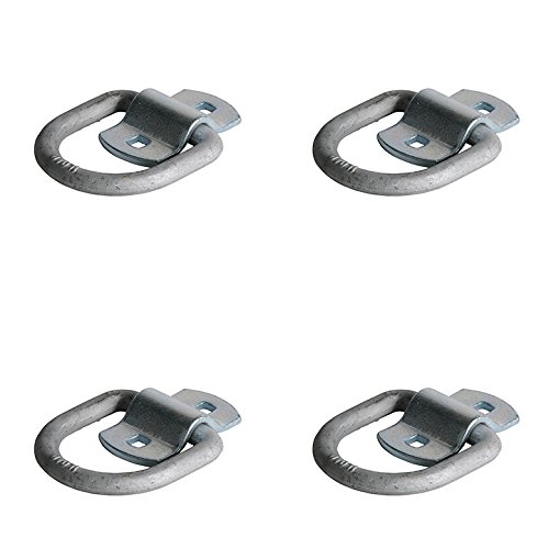 DC Cargo Mall Ten 1//2 Bolting D Ring Tie-Down Anchors with Bolt-on Mounting Clips for Trucks and Flatbed Trailers Heavy Duty 1//2 Steel