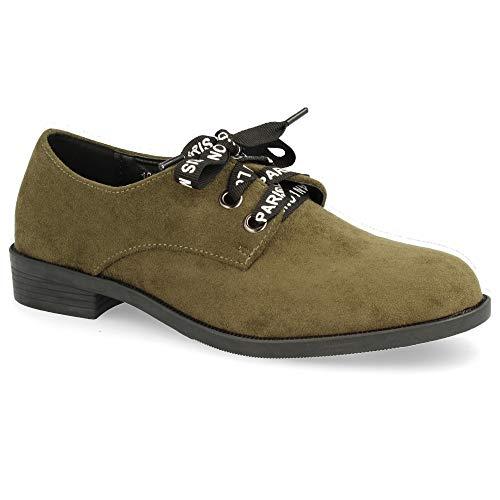 Zapato Tipo Cordones con Blucher Redondos q6SzwF64x