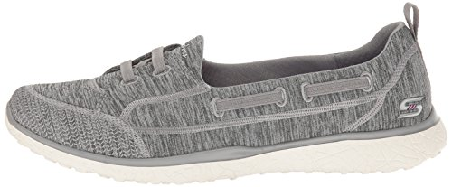 b940b8e9fd7b ... Skechers 23317 Microburst Topnotch Womens Slip On Sneakers Gray 8 ...
