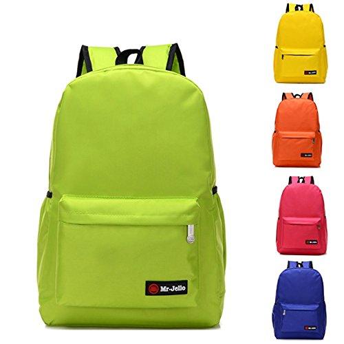 Nette Buch-Taschen für Schulmädchen-Jungen-jugendlich Schulrucksack-hohe Kapazität und Qualität ( Farbe : Black M ) Green M