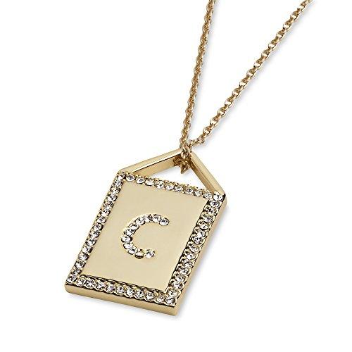 Atziloose Initial Pendant Necklace A-Z + Gift Bag