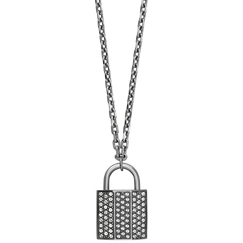 : Swarovski Case 5120620 Padlock Design Pendant w/ Clear Crystal Pave Necklace