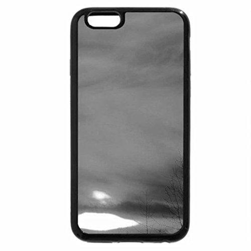 iPhone 6S Case, iPhone 6 Case (Black & White) - sunset in an orange sky