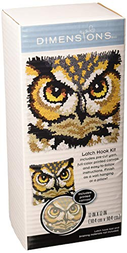 """Dimensions Arts and Crafts Owl Latch Hook Kit, 12""""L x 12""""H"""