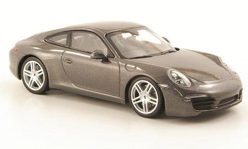Porsche 911 Carrera (991), met.-dkl.-grau, met.-dkl.-grau, met.-dkl.-grau, 2011, Modellauto, Fertigmodell, Minichamps 1:43 e3ab6c
