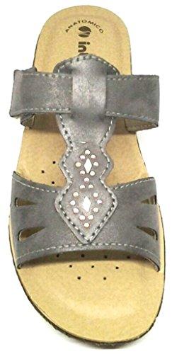 INBLU PANTOFOLE ciabatte donna mod. 26-54 canna di fucile con velcro LINEA BENESSERE