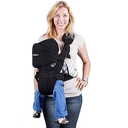 mixmart 6-in-1 ergonómico elástico carrito de bebé para recién nacidos Niños Pequeños bebés con flujo de aire 3d malla negro negro: Amazon.es: Bebé