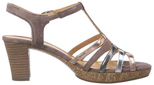 Gabor Shoes Women's Gabor Fashion Sandals Multi-coloured - Mehrfarbig (Dark-nude Kombi) AuwpJegm