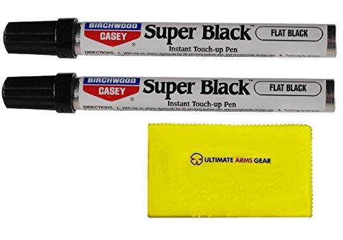 birchwood-casey-2-pack-of-super-black-touch-up-pen-marker-flat-finish-for-guns-pistol-handguns-revol