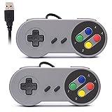 Rii GP100 SNES Retro USB Super Nintendo Controller, USB PC Controller, Raspberry Pi Controller for Windows PC / MAC / Raspberry Pi (2 Pack)