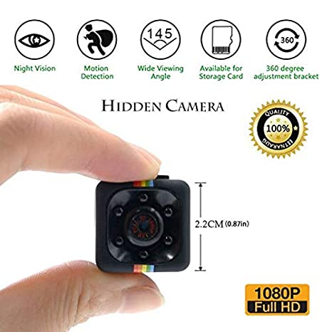 Amazon.com : Luxnwatts Mini Spy Hidden Camera Full HD 1080P Small Camera with Night Version and Motion Detection Nanny Cam for Home Security Monitoring ...