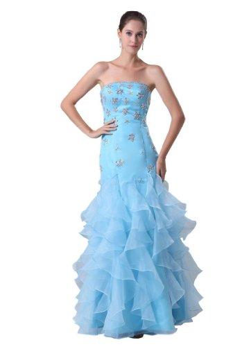 Orifashion para vestido de noche mujer Mermaid Azul Azul