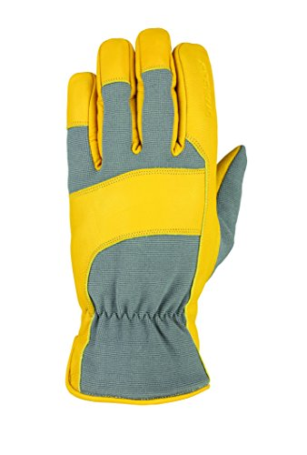 (Seirus Innovation Unisex Hws Heatwave Leather Glove, Gray/Calfskin, Medium)