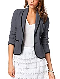 Vepodrau Women Balzer Button Down Slim Fit Office Jacket Suit Pockets