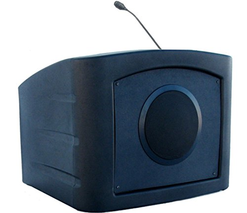 Educator Classic Podium Lectern, Black - Dan James Original (tabletop lectern with sound) (System Tabletop Sound Lectern)