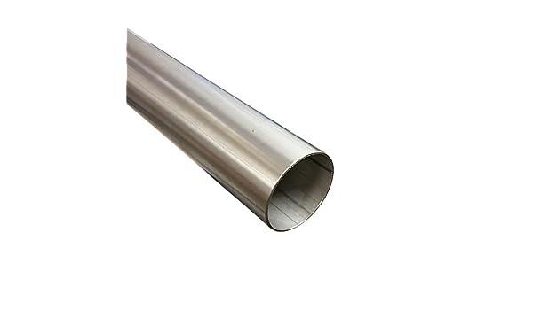 Tubo de acero inoxidable 25 mm de diámetro x 500 mm (0,5 m ...