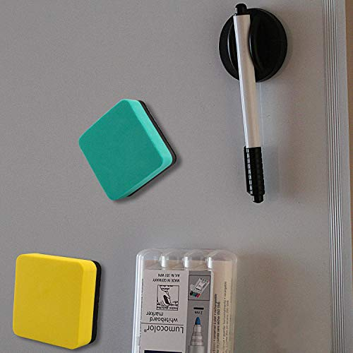 EAONE Magnetic Whiteboard Dry Erasers Chalkboard Cleaner Wiper for Classroom Home Office Yellow Dry Erase Erasers 40 Pack