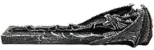 - Ky & Co YesKela Faux Stone Gothic Attacking Dragon Breath of Fire Incense Holder Burner Figurine