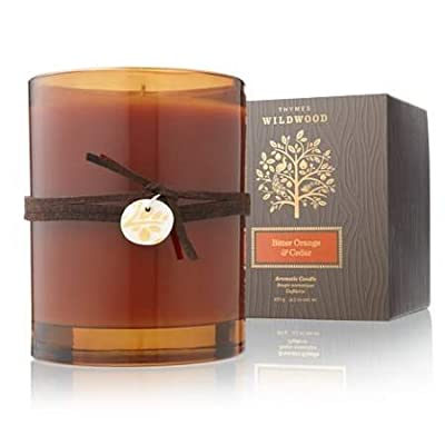 Thymes Bitter Orange & Cedar Candle -  - living-room-decor, living-room, candles - 418YkZ6XvAL. SS400  -
