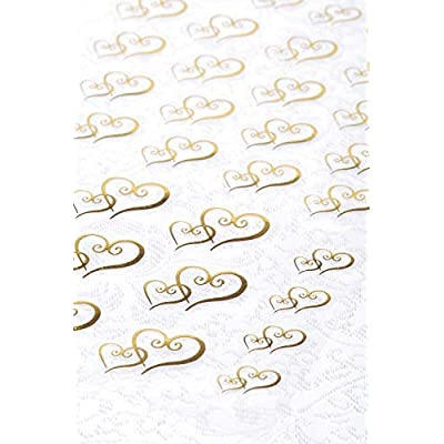 Clear Stickers 53/Pkg-Gold Double Heart: Arts, Crafts & Sewing