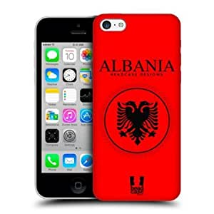 Cerhinu Head Case Albanian Flag Patches Protective Back Case Cover For Apple iPhone 5c