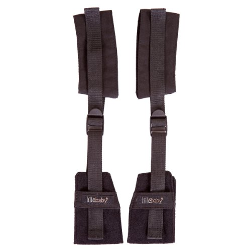LÍLLÉbaby 6-In-1 Baby Carrier Stirrups, Black - Baby Carrier Foot Attachment for Improved Comfort LILLEbaby ASC-FS-1012
