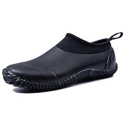 JOINFREE Womens Winter Rain Footwears Leisure Garden Shoes Water Boots Black 6.5 M US