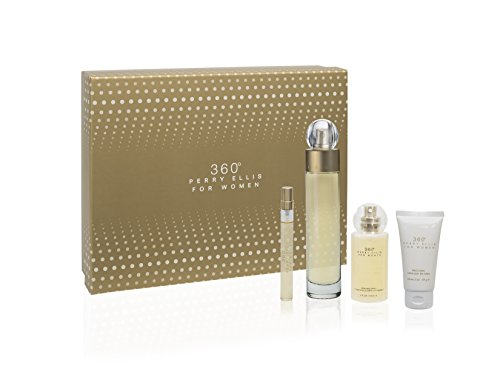 Perry Ellis 360 for Women 4 Piece Gift Set (Perfume Set Women)