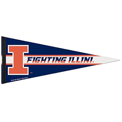 WinCraft NCAA University of Illinois Premium Pennant, 12