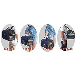 6-en-1 ROBUSTA Mochila Portador Para Mascotas, Transportín delantero, Bolso de hombre & de mano, Aprobada Por Aerolíneas, Transportador de viaje para gatos, perros, conejos, Portador de Lados Suave