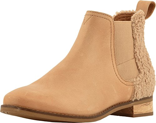 - TOMS Women's Ella Honey Leather/Faux Shearling 8 B US